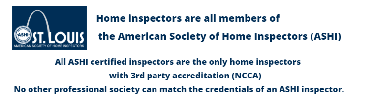 ASHI Certified Inspectors have 3rd party credentials